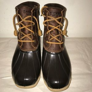 Sperrys saltwater leather duck boots